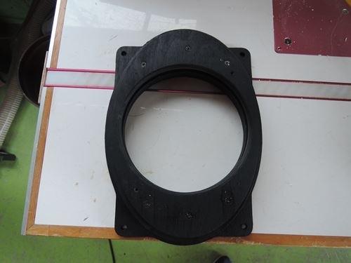 トヨタプリウス30系インナーバッフルバーチ材制作