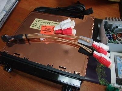 DEH-P01 cdプレーヤーとRCA配線