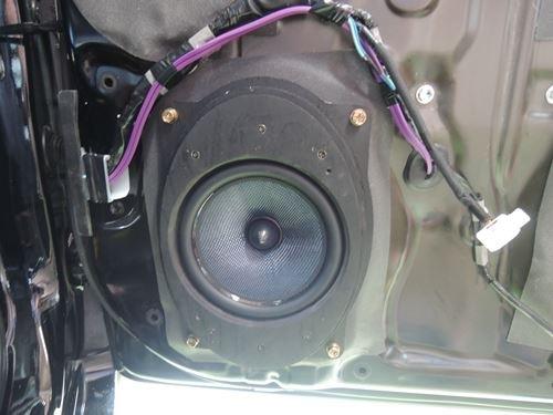 トヨタプリウス30系インナーバッフルブルームーンオーディオスピーカー取付